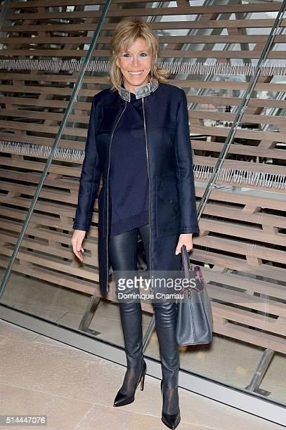 Brigitte Macron attends the Louis Vuitton show as part of the Paris Fashion Week Womenswear Fall/Winter 2016/2017 on March 9 2016 in Paris France