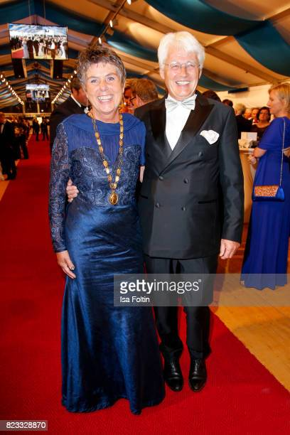 Brigitte MerkErbe and her husabnd Thomas Erbe during the Bayreuth Festival 2017 State Reception on July 25 2017 in Bayreuth Germany