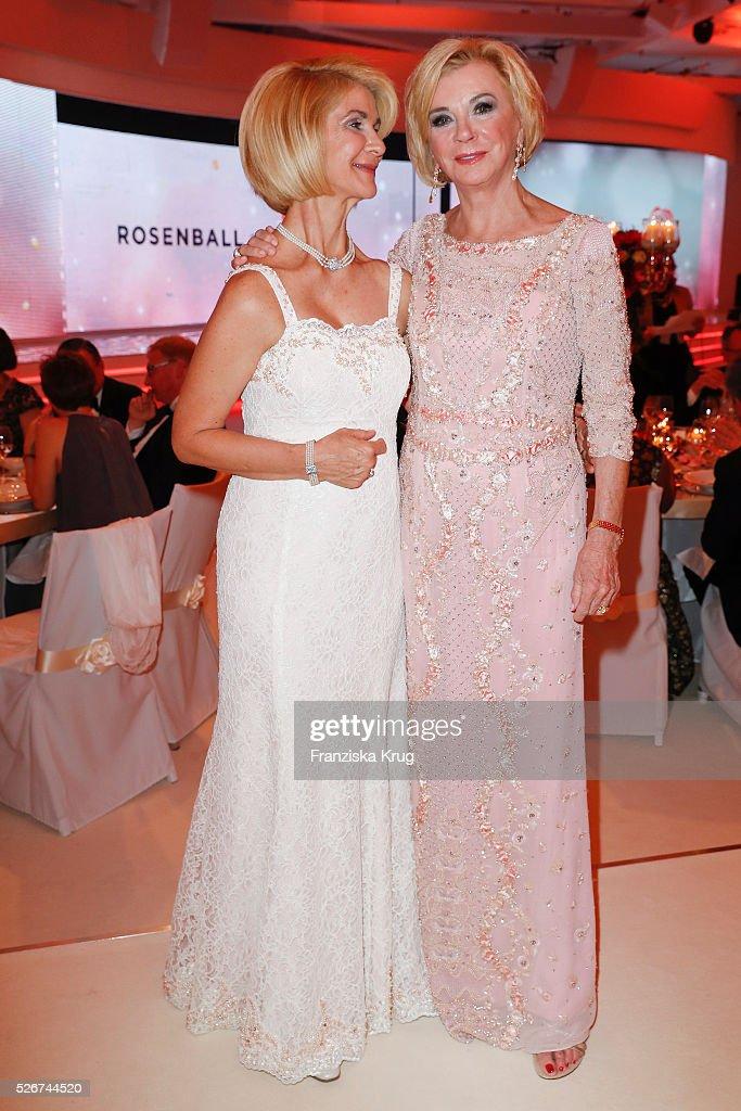Brigitte Mohn and Liz Mohn attend the Rosenball 2016 on April 30 in Berlin, Germany.