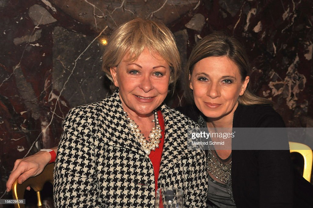 Brigitte Neumeister (L) attends the Christmas ball for children Energy For Life - Heat For Children's Hearts at Hofburg Vienna on December 11, 2012 in Vienna, Austria.