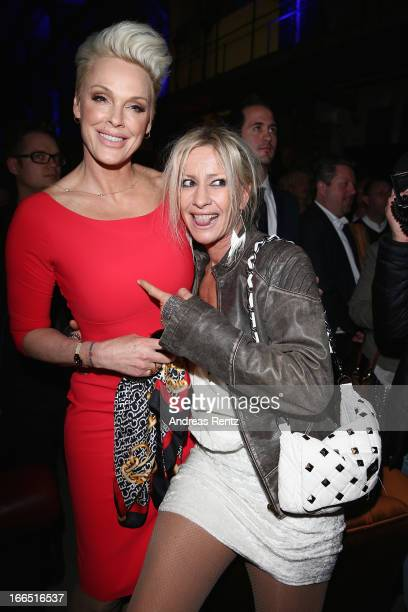 Brigitte Nielsen and Birgit Stein attend the Jaguar FType short film 'The Key' Premiere at eWerk on April 13 2013 in Berlin Germany