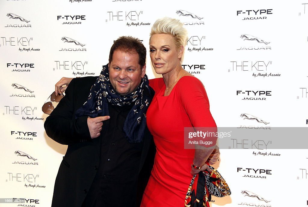 <a gi-track='captionPersonalityLinkClicked' href=/galleries/search?phrase=Brigitte+Nielsen&family=editorial&specificpeople=209264 ng-click='$event.stopPropagation()'>Brigitte Nielsen</a> and director Mayk Azzato attend the Jaguar F-Type commercial short movie 'The Key' premiere at e-Werk on April 13, 2013 in Berlin, Germany.