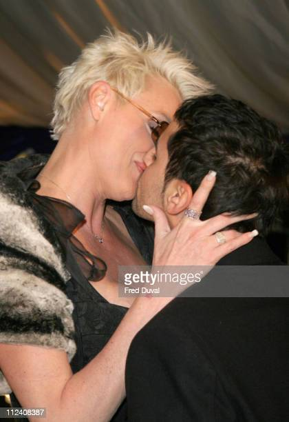 Brigitte Nielsen and guest during British Comedy Awards 2004 Arrivals at LWT Southbank in London Great Britain