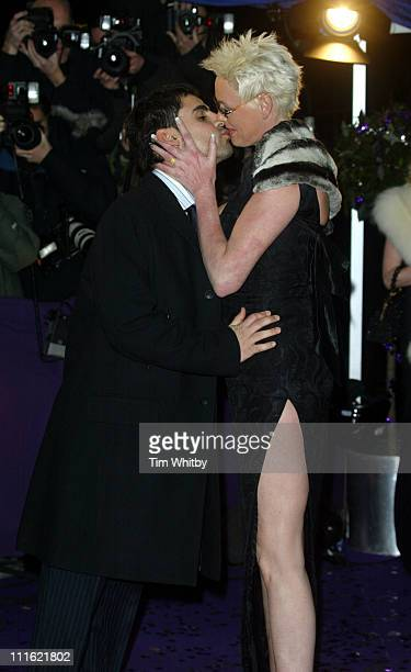 Brigitte Nielsen and guest during The British Comedy Awards 2004 Arrivals at LWT Southbank in London Great Britain