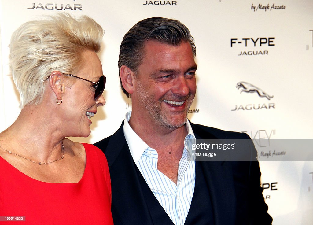 <a gi-track='captionPersonalityLinkClicked' href=/galleries/search?phrase=Brigitte+Nielsen&family=editorial&specificpeople=209264 ng-click='$event.stopPropagation()'>Brigitte Nielsen</a> and <a gi-track='captionPersonalityLinkClicked' href=/galleries/search?phrase=Ray+Stevenson&family=editorial&specificpeople=808097 ng-click='$event.stopPropagation()'>Ray Stevenson</a> attend the Jaguar F-Type commercial short movie 'The Key' premiere at e-Werk on April 13, 2013 in Berlin, Germany.