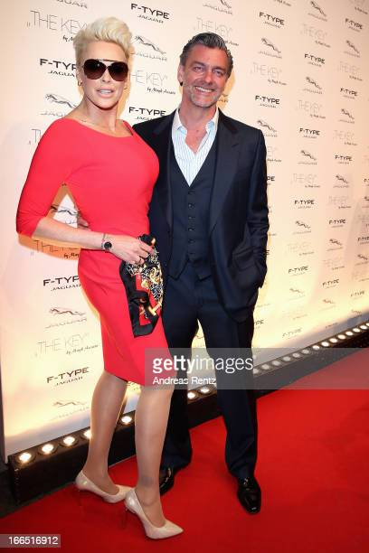 Brigitte Nielsen and Ray Stevenson attend the Jaguar FType short film 'The Key' Premiere at eWerk on April 13 2013 in Berlin Germany