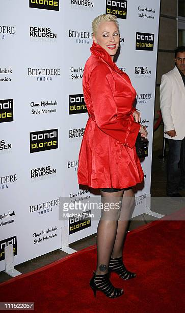 Brigitte Nielsen arrives to the 'Bondi Blonde's' Style Mansion hosted by Katy Perry held on February 9 2009 in Beverly Hills California