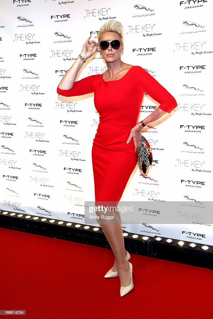 Brigitte Nielsen attends the Jaguar F-Type commercial short movie 'The Key' premiere at e-Werk on April 13, 2013 in Berlin, Germany.