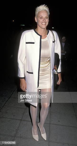 Brigitte Nielsen during Brigitte Nielsen Sighting at Le Dome Restaurant in Hollywood January 31 1991 at Le Dome Restaurant in Hollywood California...