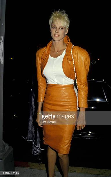 Brigitte Nielsen during Sylvester Stallone and Brigitte Nielsen Sighting at Nicky Blair's Restaurant in Hollywood June 25 1987 at Nicky Blair's...