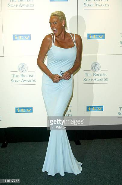 Brigitte Nielsen during The 2005 British Soap Awards Press Room at BBC Television Centre in London Great Britain