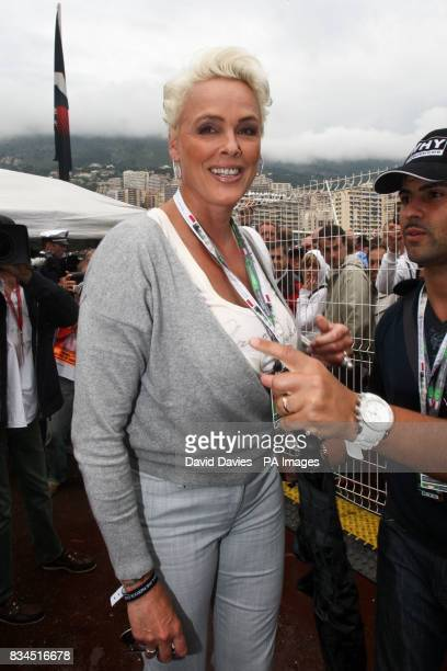 Brigitte Nielsen in the paddock