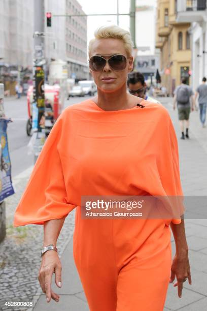 Brigitte Nielsen is seen at the Hotel Lux 11 on July 24 2014 in Berlin Germany
