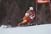 Brigitte Oertli of Switzerland during the International Ski Federation Women's Giant Slalom at the FIS Alpine World Ski Championship on 5 February...