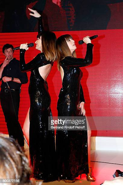 Brigitte perform during the Charity Dinner 'LINK for AIDES' during the 'Art is Hope' Exhibition at Place Vendome on December 7 2015 in Paris France