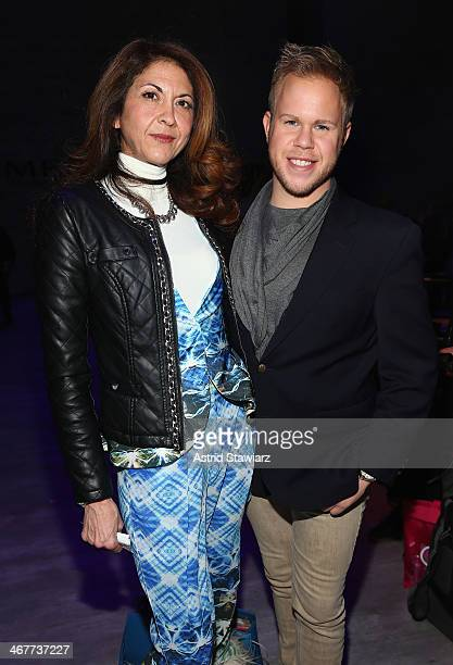 Brigitte Segura and photographer Andrew Werner attend the Emerson By Jackie FraserSwan fashion show during MercedesBenz Fashion Week Fall 2014 at The...