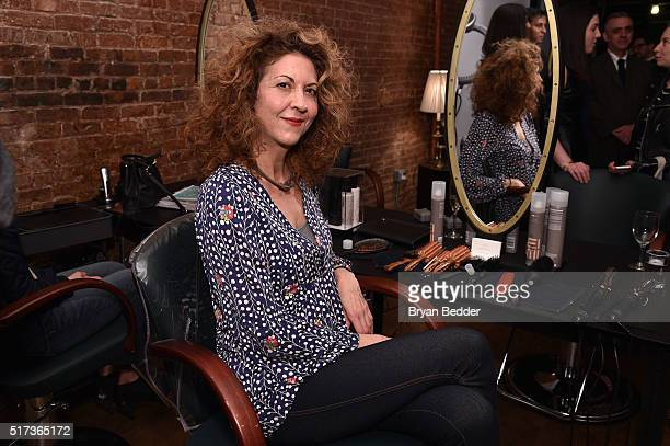 Brigitte Segura attends the ELLE Wella event at Salon MarieLou D on March 24 2016 in New York City