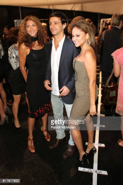 Brigitte Segura Carlos Miele and Kat Deluna attend CARLOS MIELE Spring 2011 Fashion Show at The Lincoln Center Stage on September 13th 2010 in New...