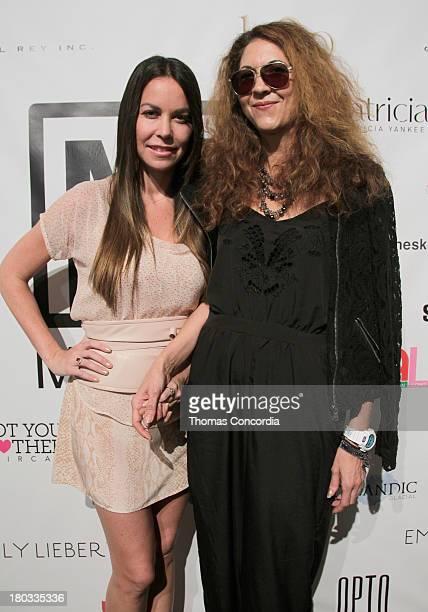 Brigitte Segura poses with Alessandra Meskita during Meskita by Alessandra Meskita at the STYLE360 Fashion Pavilion in Chelsea on September 11 2013...