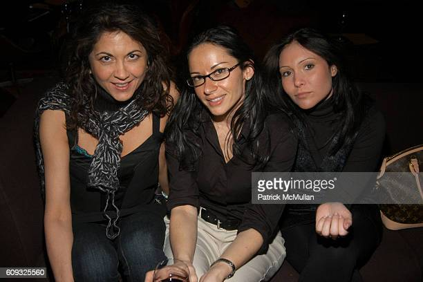 Brigitte Segura Sivan Rhodes and Angel Fumagalli attend HOUSE de LUX Fall 2007 Women's ReadytoWear Collection at SoHo House on March 8 2007 in New...