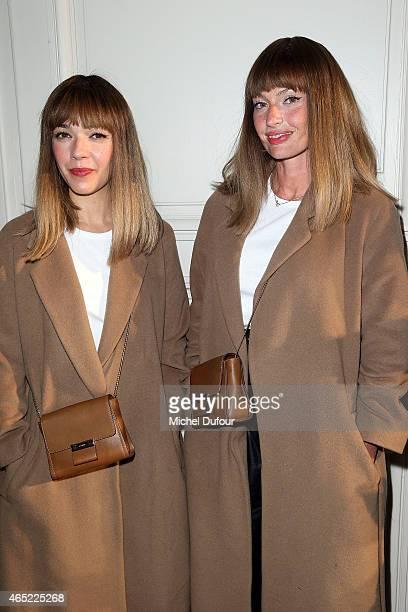 'Brigitte' Sylvie Hoarau and Aurelie Saada attend the Alexis Mabille show as part of the Paris Fashion Week Womenswear Fall/Winter 2015/2016 on March...