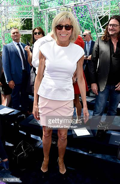 Brigitte Trogneux attends the Christian Dior show as part of Paris Fashion Week Haute Couture Fall/Winter 2015/2016 on July 6 2015 in Paris France