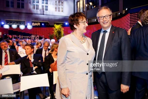 Brigitte Zypries and Georg Fahrenschon attend the Deutscher Gruenderpreis on June 20 2017 in Berlin Germany
