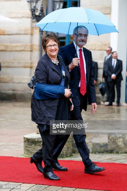 Brigitte Zypries and guest attend the Bayreuth Festival 2017 Opening on July 25 2017 in Bayreuth Germany