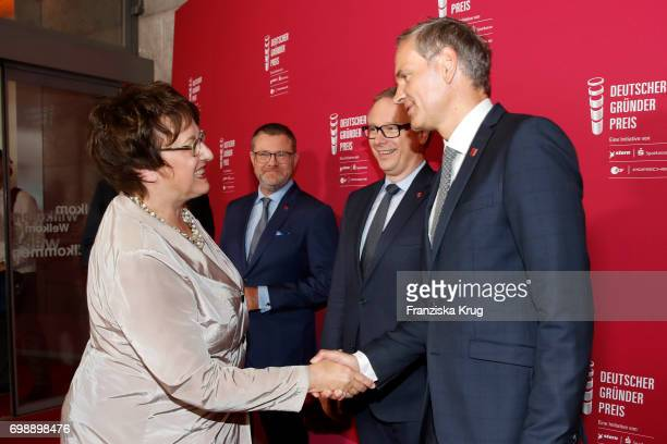 Brigitte Zypries Christian Krug Georg Fahrenschon and Oliver Blume attend the Deutscher Gruenderpreis on June 20 2017 in Berlin Germany