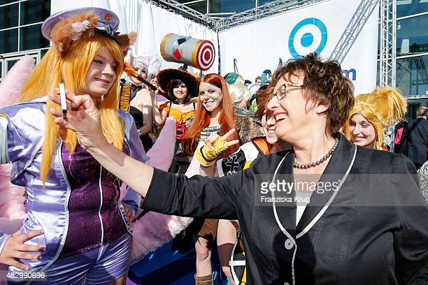 Brigitte Zypries during the opening of the Gamescom 2015 gaming trade fair on August 5 2015 in Cologne Germany Gamescom is the world's largest...