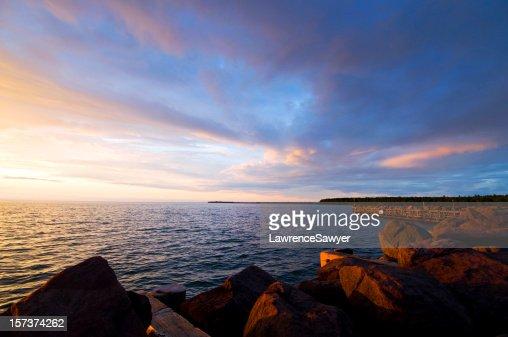 brilliant Lake Superior sunset