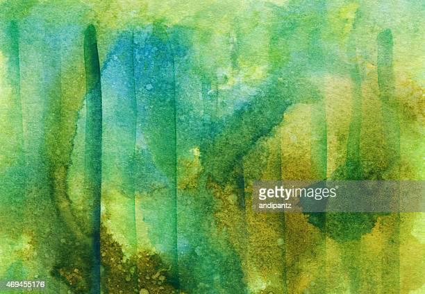 Brilliant tons de cores sobre um fundo de Aguarela