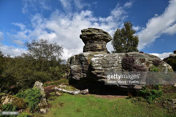 Brimham Rocks By Against Sky