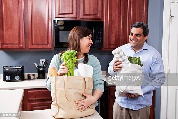 Bringing groceries home