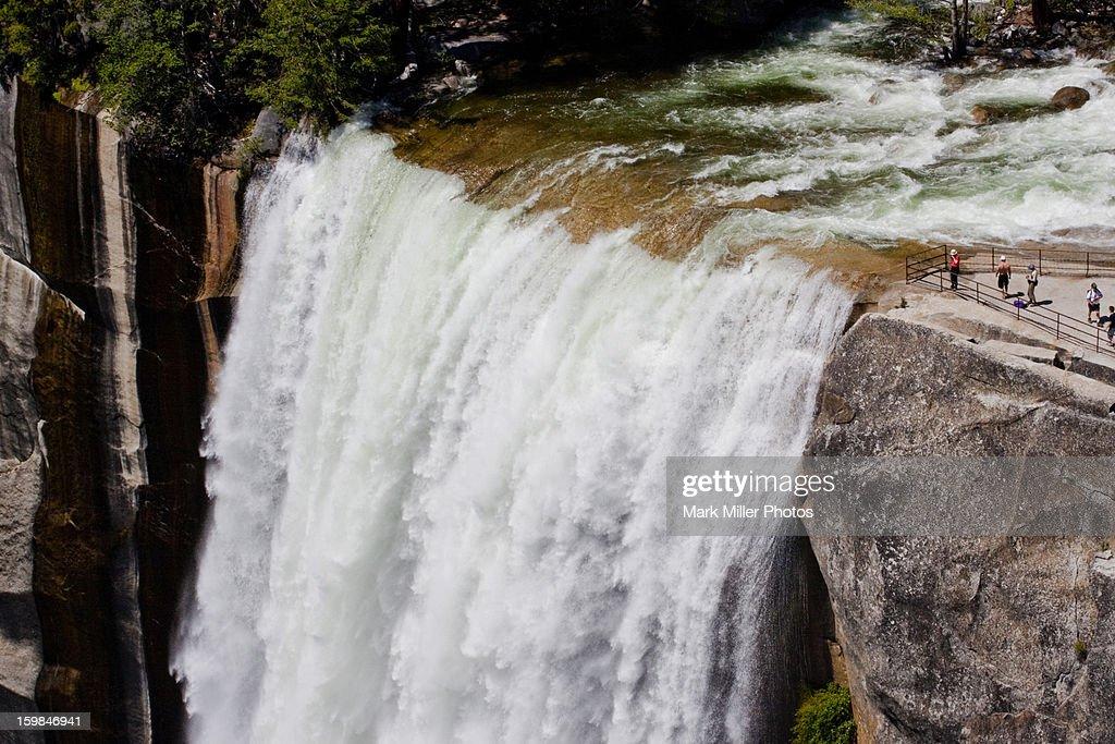 Brink of Vernal Falls in Yosemite : Stock Photo