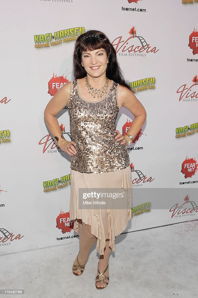 Brinke Stevens arrives at the 2013 Viscera Film Festival Red Carpet Event at American Cinematheque's Egyptian Theatre on July 13, 2013 in Hollywood, California.