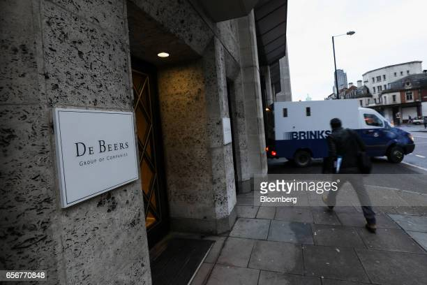 A Brink's Co security van leaves the De Beers SA headquarters on Charterhouse Street in London UK on Wednesday Feb 1 2017 Number 17 Charterhouse...