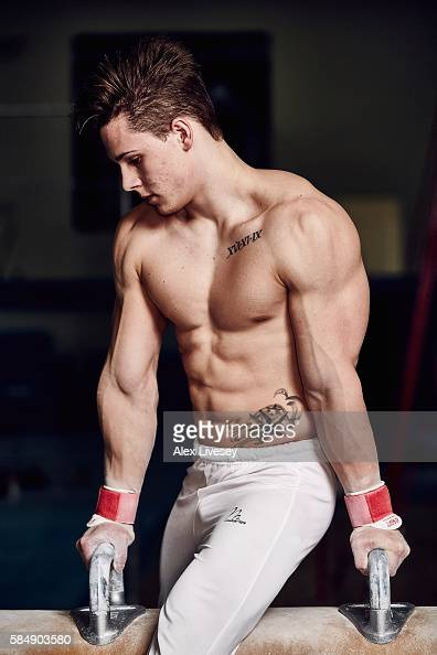 Brinn Bevan of the British Gymnastics Team poses for a portrait during a training session at Lilleshall National Sports Centre on July 12 2016 in...