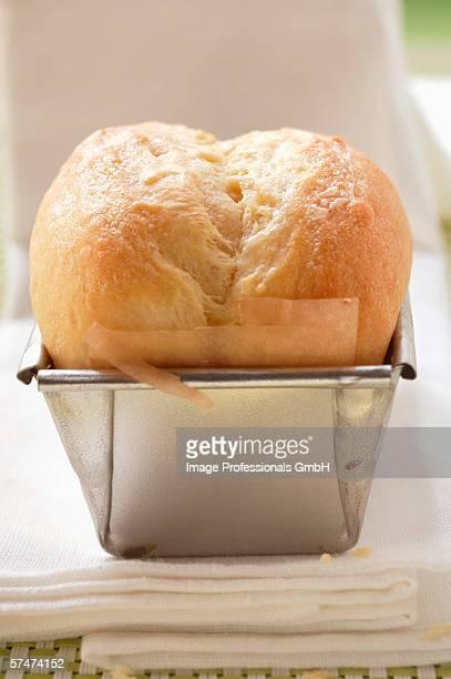 Brioche in the baking tin