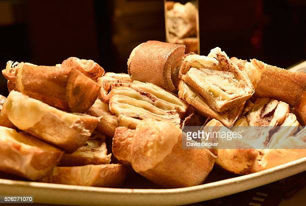 Brioche is served at the Guy Savoy booth during Vegas Uncork'd by Bon Appetit presented by Chase Sapphire Preferred 10th anniversary Grand Tasting at...