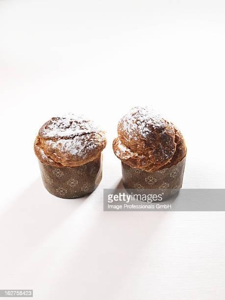 Brioche muffins in paper cases