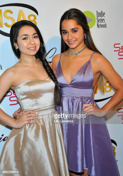 Brisa Lalich and Laura Krystine arrive at the 8th Annual Indie Series Awards at The Colony Theater on April 5 2017 in Burbank California