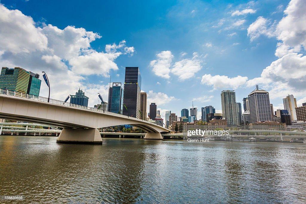 Brisbane CBD and Victoria Bridge are seen ahead of the G20 Leaders Summit on November 12 2014 in Brisbane Australia World economic leaders will...