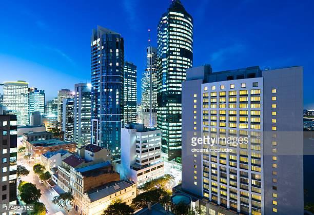 Escena distrito financiero central (CBD) de la ciudad de Brisbane