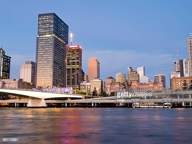 Noche de la ciudad de Brisbane