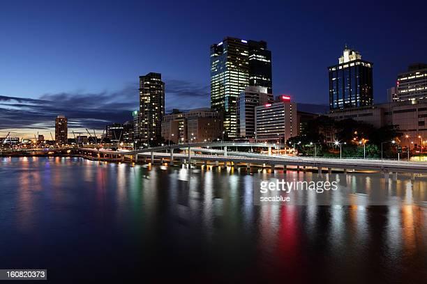 Brisbane City skyline at dusk
