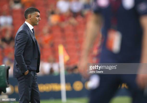 Brisbane Coach John Aloisi reacts after the loss during the round two ALeague match between the Brisbane Roar and Adelaide United at Suncorp Stadium...