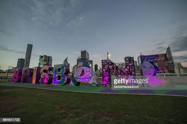 Brisbane light show