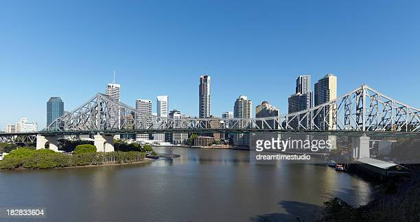 Brisbane skyline and Story Bridge on a clear sunny day