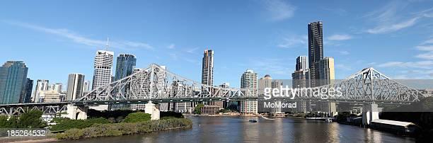 Horizonte de Brisbane y Story Bridge